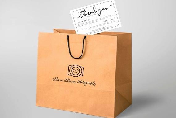 No Return Policy Template Elegant Printable Return Policy & Thank You Card Template No Color