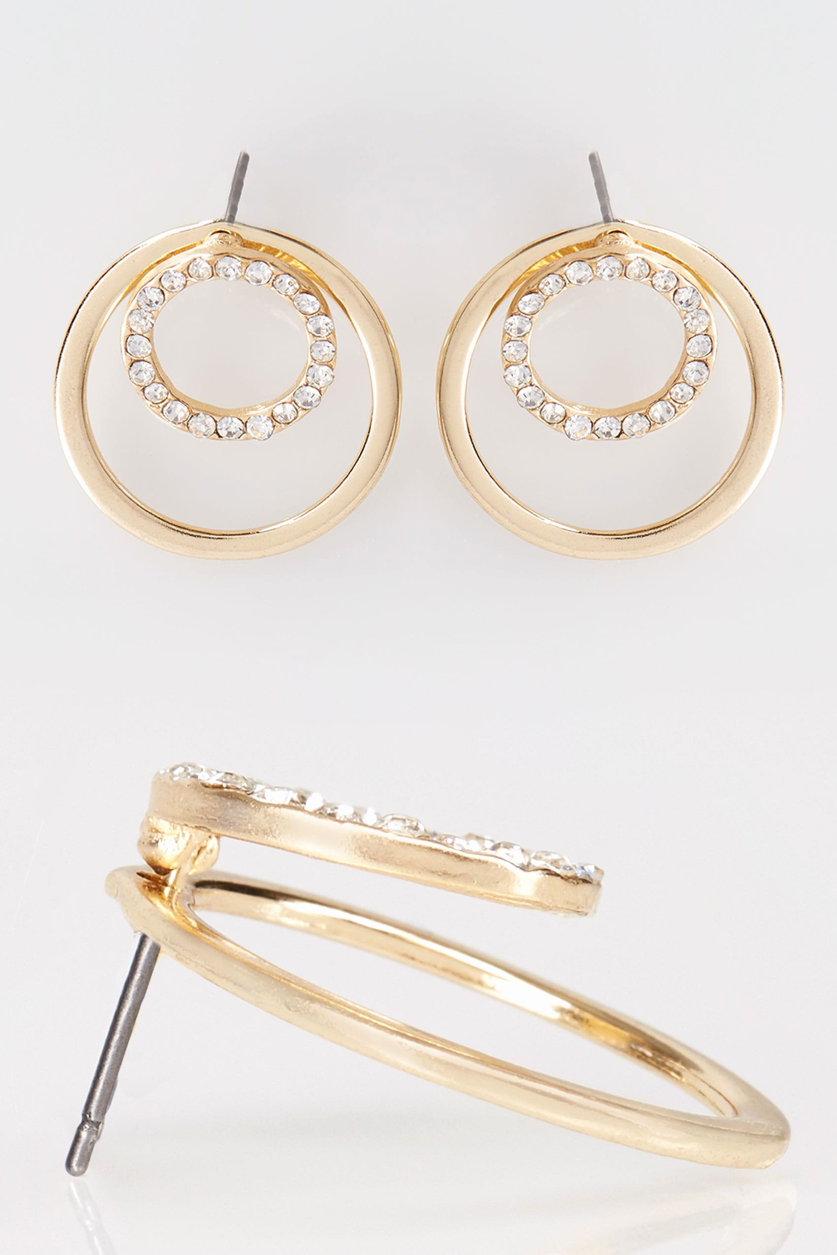 No Return Policy Template Fresh Gold Diamante Double Circle Earrings
