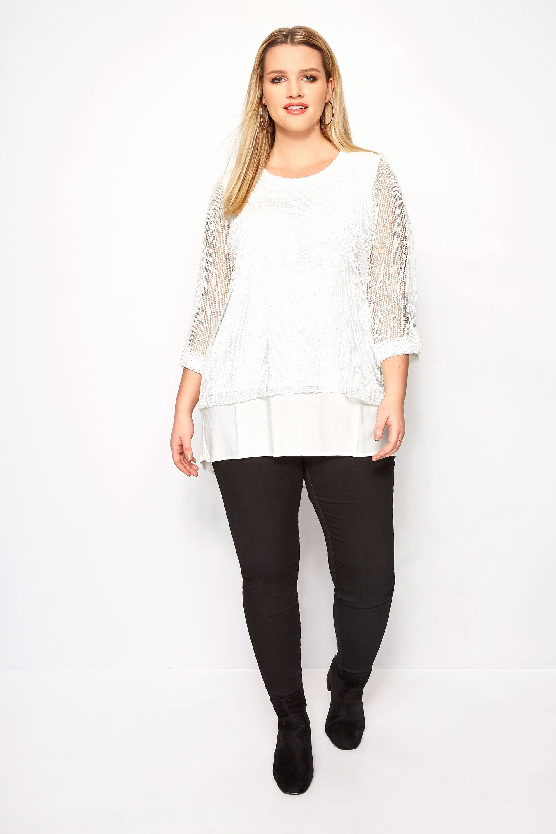 No Return Policy Template Fresh Plus Size Ivory Layered Crochet top