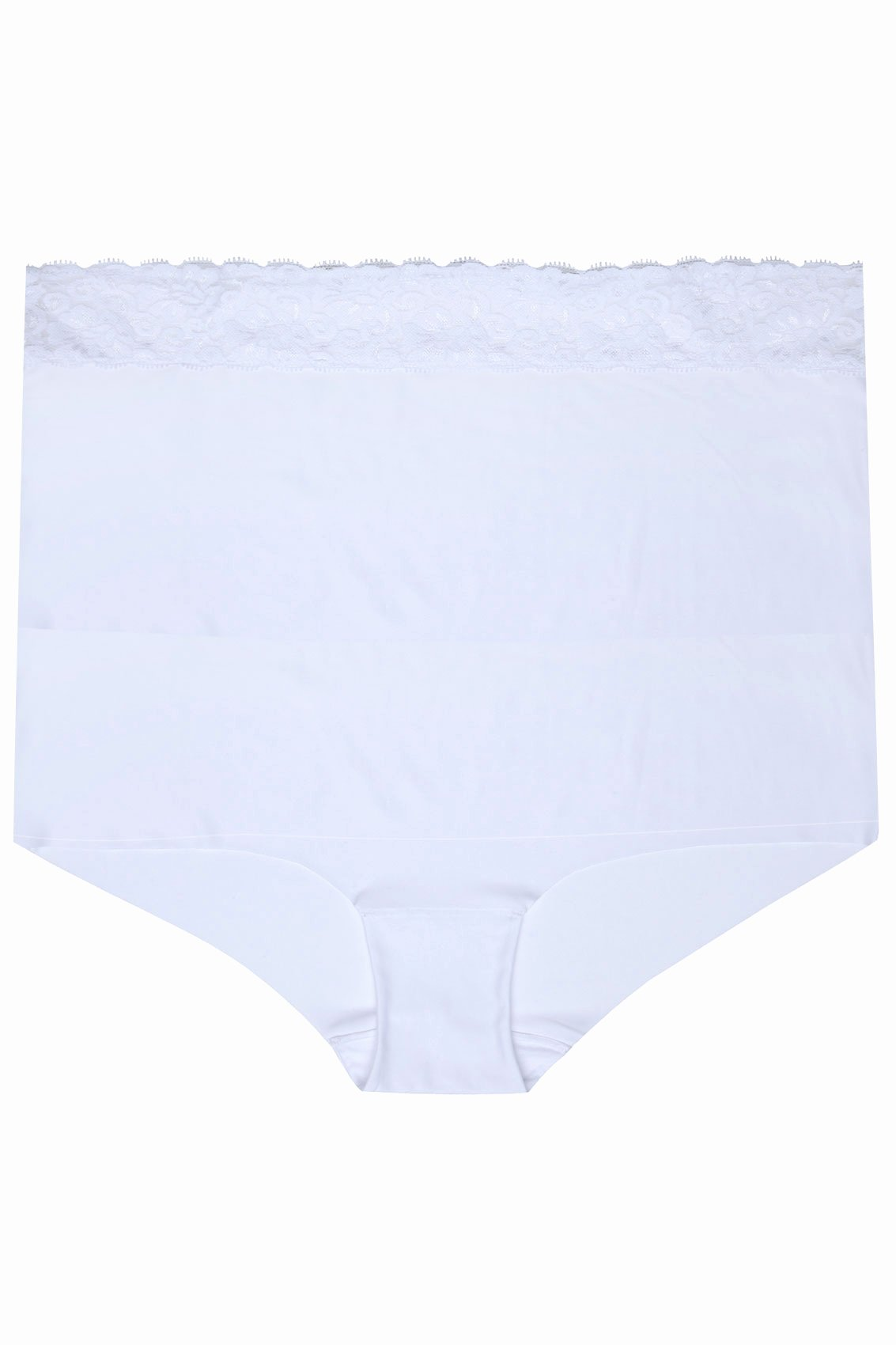 No Return Policy Template Fresh White No Vpl Brief with Lace Waist Trim Plus Sizes 16 to 32