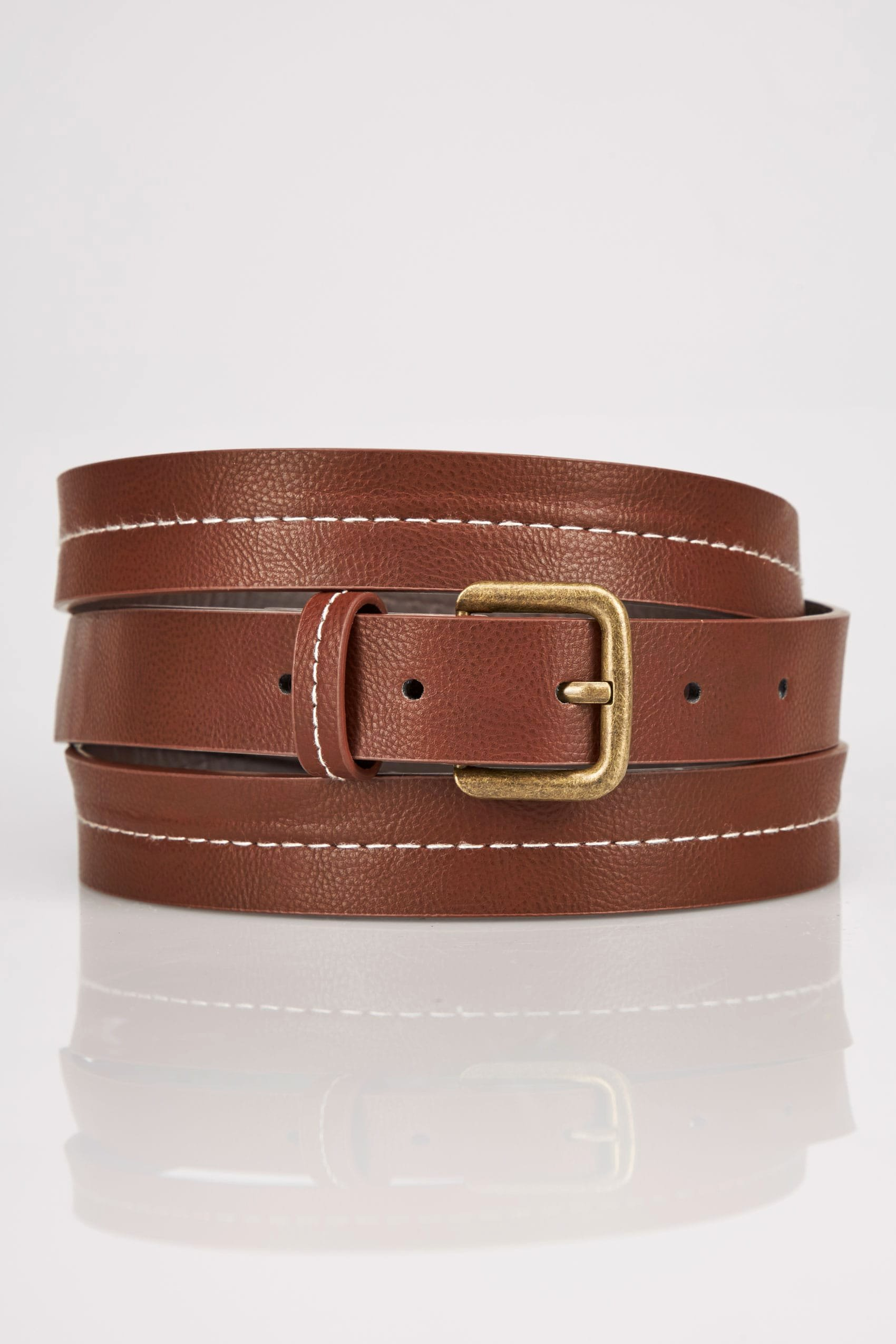 No Return Policy Template Lovely Tan Stitched Belt with Pin Buckle Fastening Plus Size 16