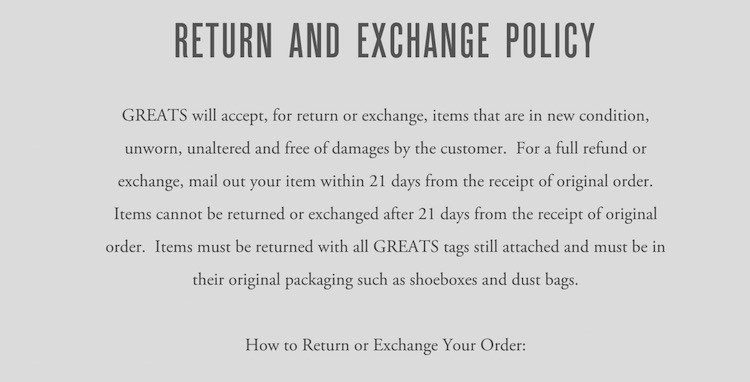 No Return Policy Template Luxury Sample Return Policy for E Merce Stores Termsfeed