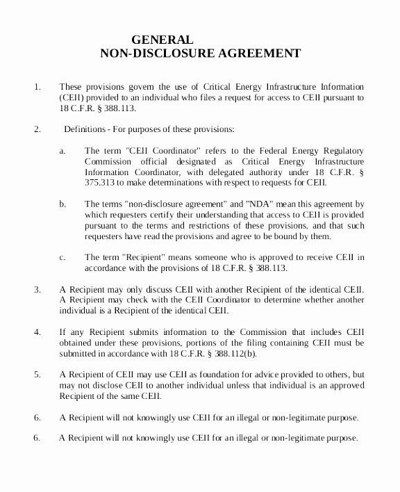 Non Disclosure Agreement Template Pdf New 12 Non Disclosure Agreement Template Canada Rreiw