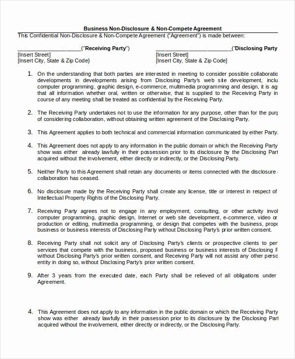 Non Disclosure Agreement Template Pdf New 23 Non Disclosure Agreement Templates Doc Pdf