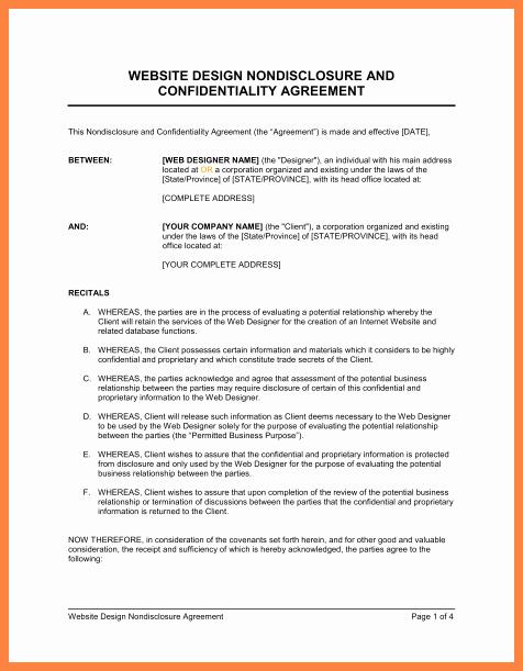 Non Disclosure Agreement Template Pdf New 3 Non Disclosure Agreement Template Australia