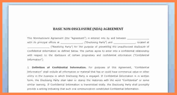 Non Disclosure Agreement Template Pdf Unique 7 Simple Confidentiality Agreement Template