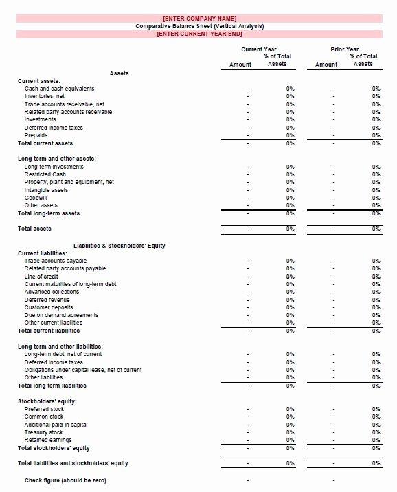Non Profit Balance Sheet Template Elegant Free Excel Balance Sheet Template