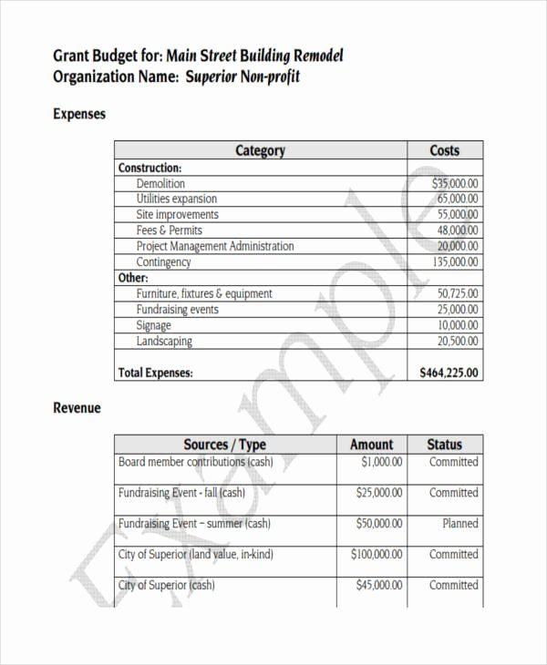 Non Profit Budget Template Best Of 7 Nonprofit Bud Templates Word Pdf Excel