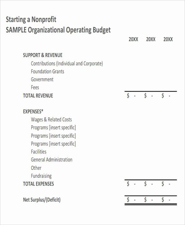 Non Profit Budget Template Excel Beautiful 12 Non Profit Bud Templates Word Pdf Excel Google