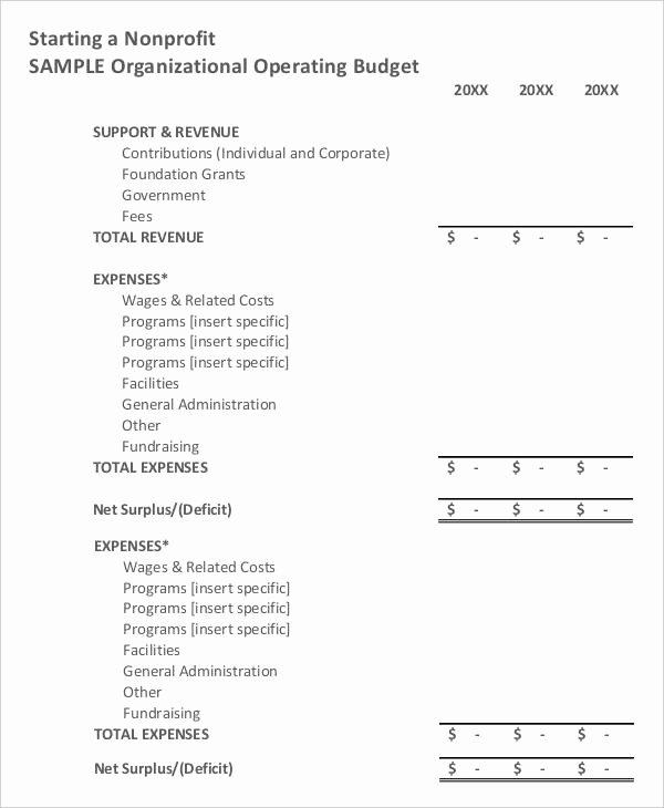 Non Profit Budget Template Excel Luxury Sample Nonprofit Bud