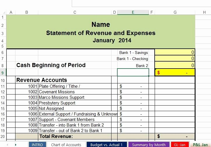 Non Profit Budget Template Excel Unique Free Non Profit Accounting Spreadsheets
