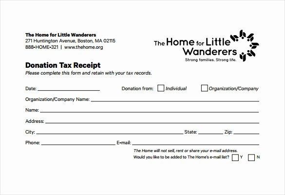 Non Profit Donation Receipt Template Best Of 15 Donation Receipt Template Samples