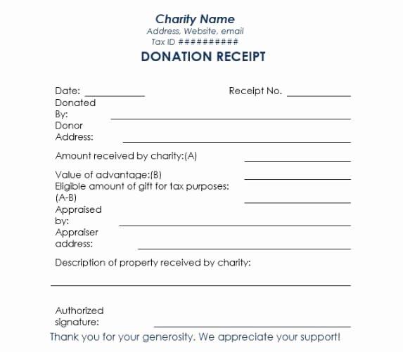 Non Profit Donation Receipt Template Elegant Non Profit Donation Receipt Template