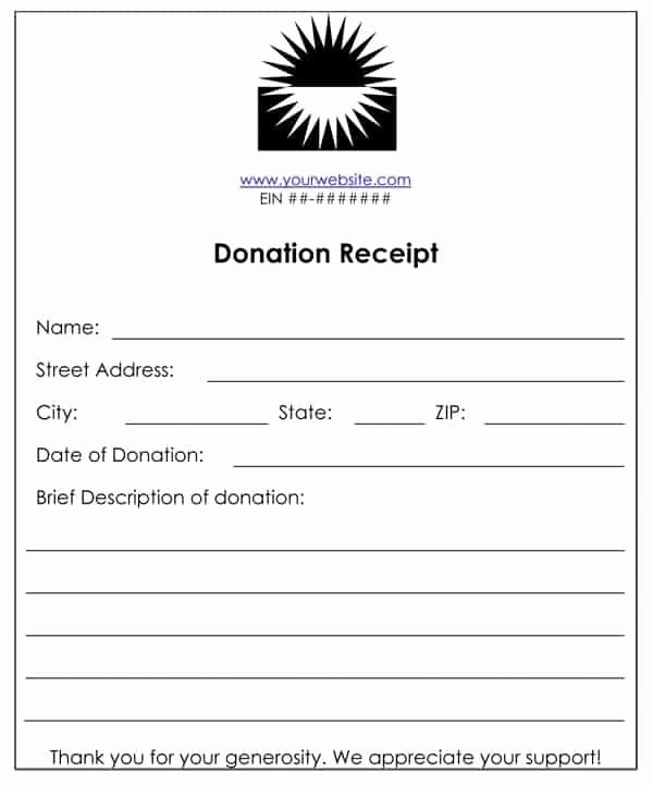 Non Profit Donation Receipt Template Fresh 6 Cash Funds Donation Receipt Templates – Word Templates