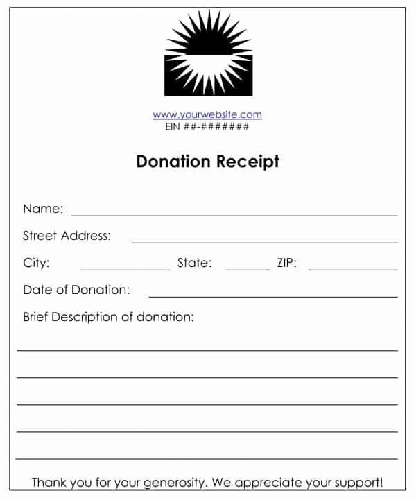 Non Profit Donation Receipt Template Fresh 6 Cash Funds Donation Receipt Templates – Word Templates