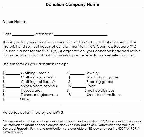 Non Profit Donation Receipt Template Fresh Donation Receipt Template 12 Free Samples In Word and Excel