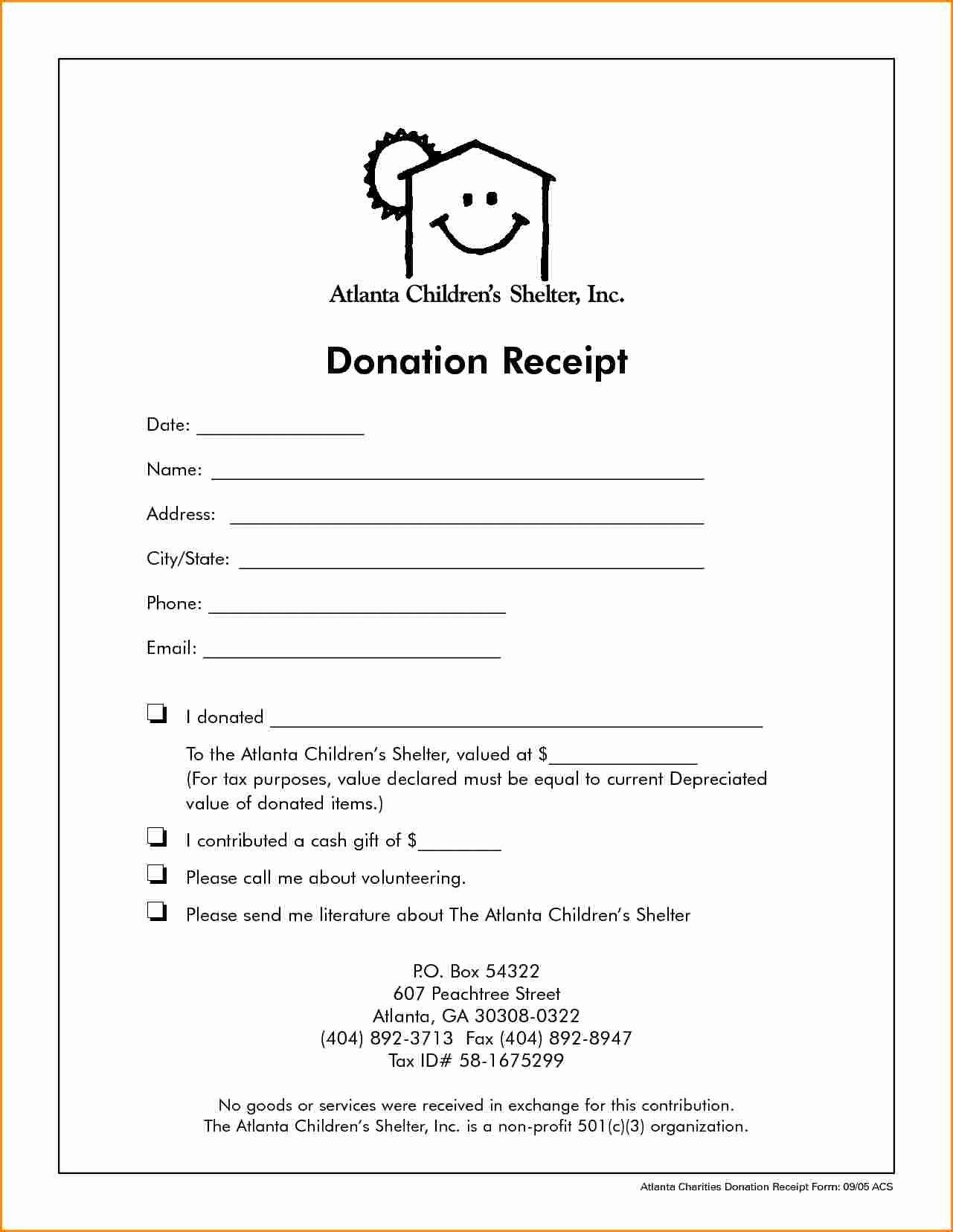 Non Profit Donation Receipt Template Lovely 5 Receipt for Non Profit Donation