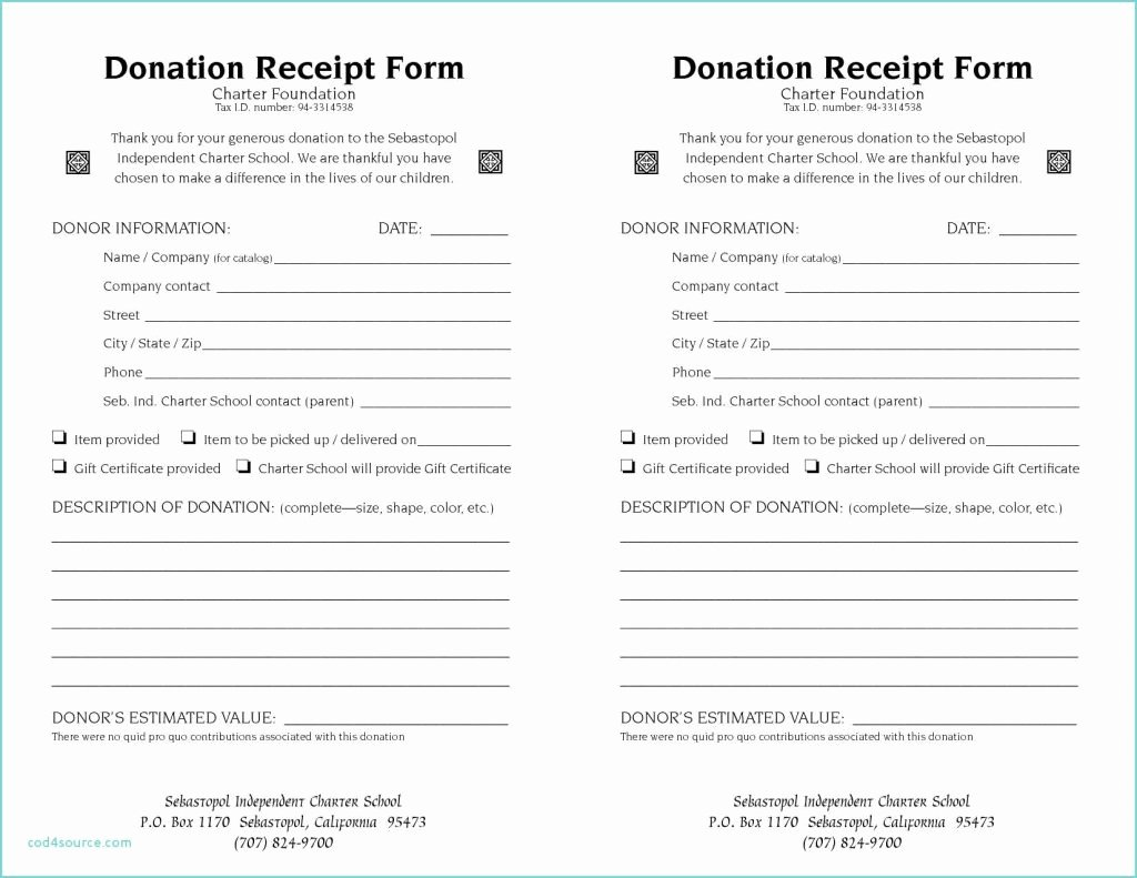 Non Profit Donation Receipt Template Luxury 10 Non Profit Donation Receipt Letter