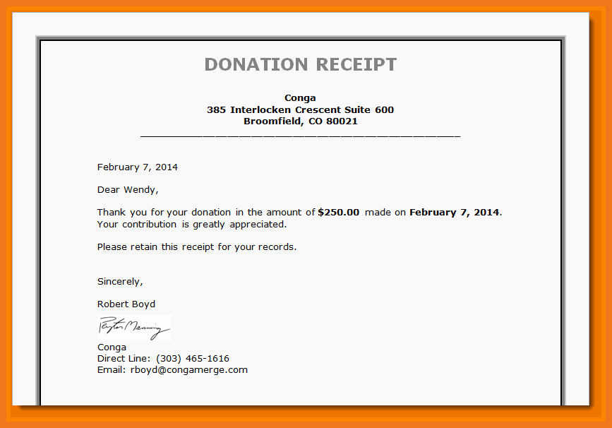 Non Profit Donation Receipt Template Luxury 3 4 Tax Deductible Donation Letter