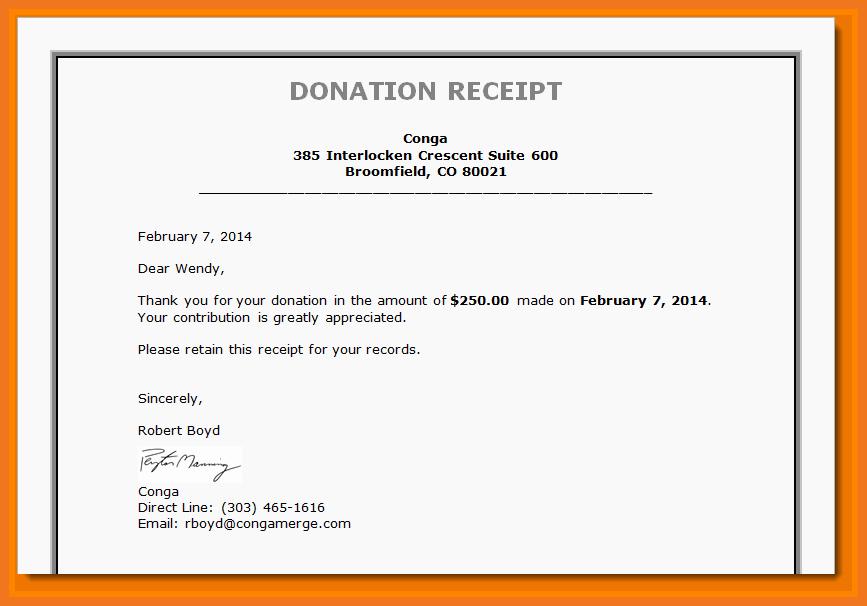 Non Profit Donation Receipt Template Luxury 3 4 Tax Deductible Donation Letter