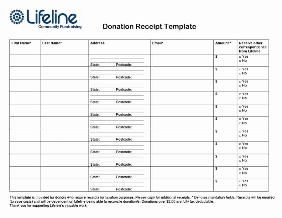 Non Profit Donation Receipt Template Luxury 40 Donation Receipt Templates & Letters [goodwill Non Profit]