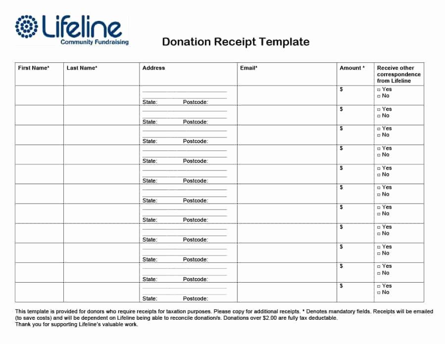 Non Profit Donation Receipt Template Luxury 40 Donation Receipt Templates & Letters [goodwill Non Profit]