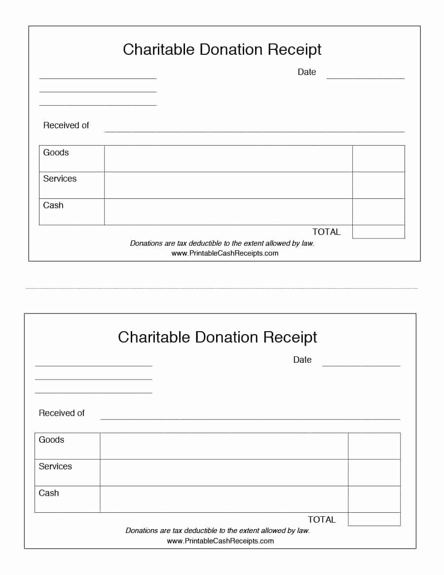 Non Profit Donation Receipt Template New 40 Donation Receipt Templates & Letters [goodwill Non