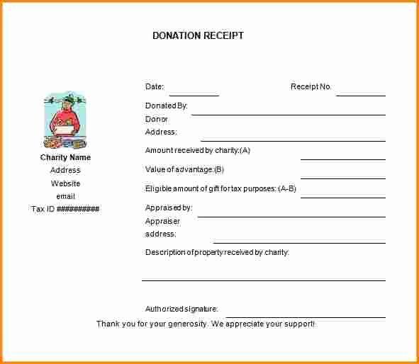 Non Profit Donation Receipt Template Unique 7 Non Profit Donation Receipt form