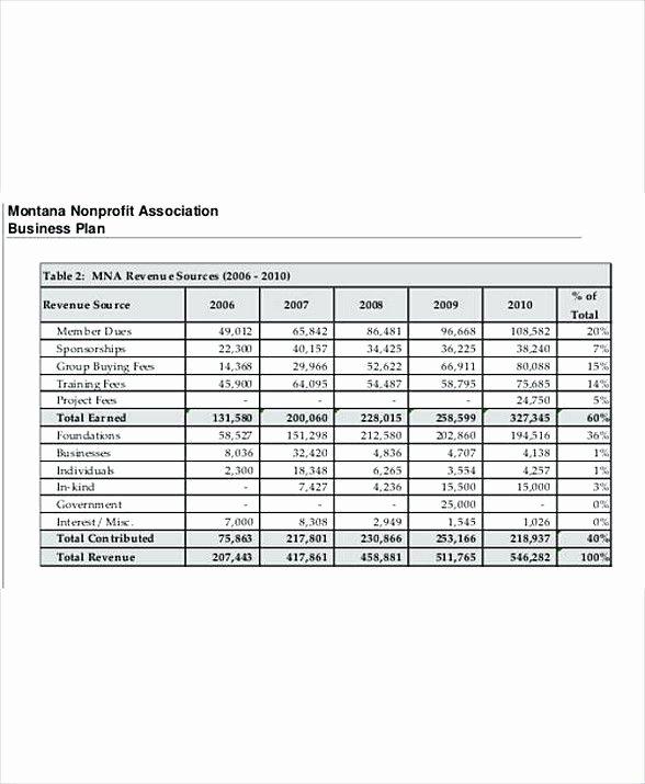 Non Profit organization Budget Template Beautiful Nonprofit Business Bud Template 8 Non Profit Bud