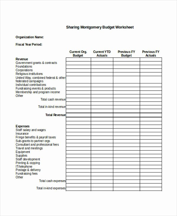 Non Profit organization Budget Template Best Of Nonprofit Sheet Templates 6 Free Word Pdf format