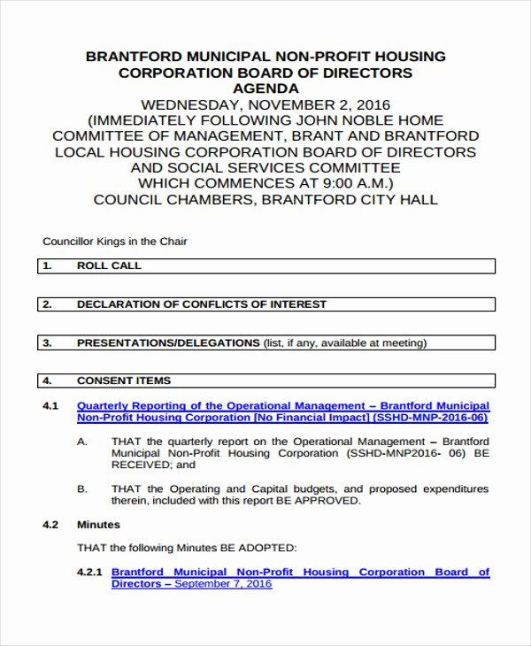 Non Profit organization Structure Template Unique 24 Of Non Profit Board Agenda Template