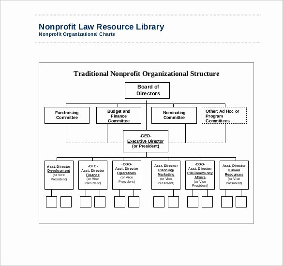 Non Profit organizational Chart Template Best Of Sample Non Profit organizational Chart 6 Documents In