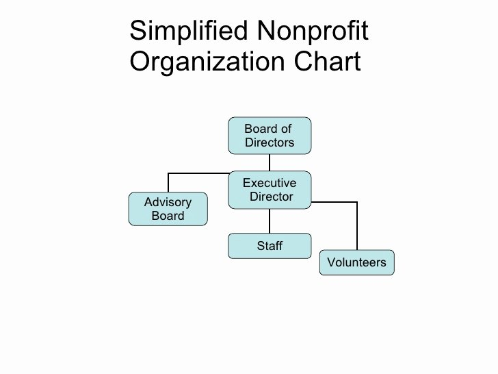 Non Profit organizational Chart Template New Simplified Nonprofit org Chart