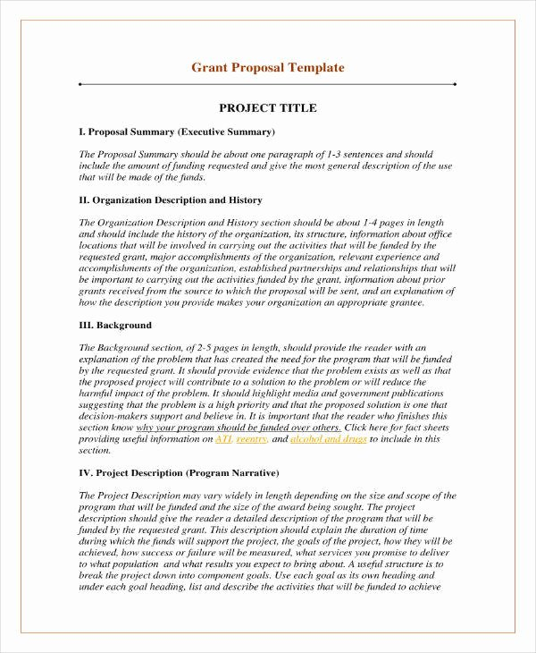 Non Profit Proposal Template Awesome 12 Grant Proposal Outline Templates Pdf Psd Word