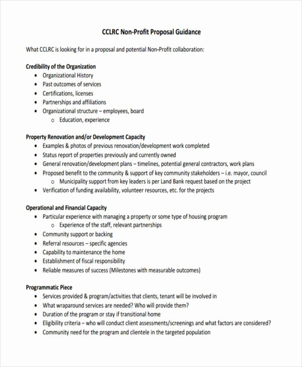 Non Profit Proposal Template Elegant Free 57 Proposal Templates and Examples In Pdf