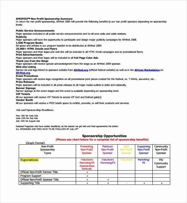 Non Profit Proposal Template Fresh Sample Non Profit Proposal Template 13 Free Documents