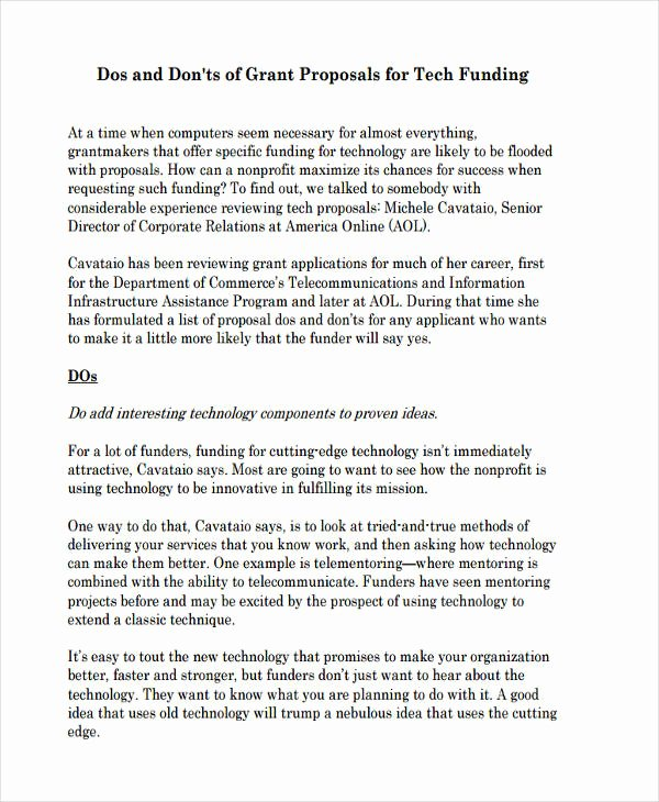 Non Profit Proposal Template Lovely Free 8 Non Profit Proposal Examples & Samples In Doc