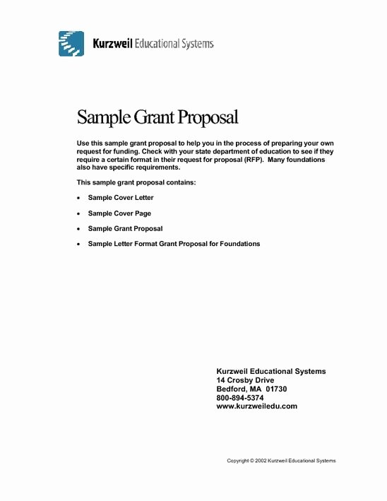 Non Profit Proposal Template Lovely Sample Grant Proposal Non Profit Template