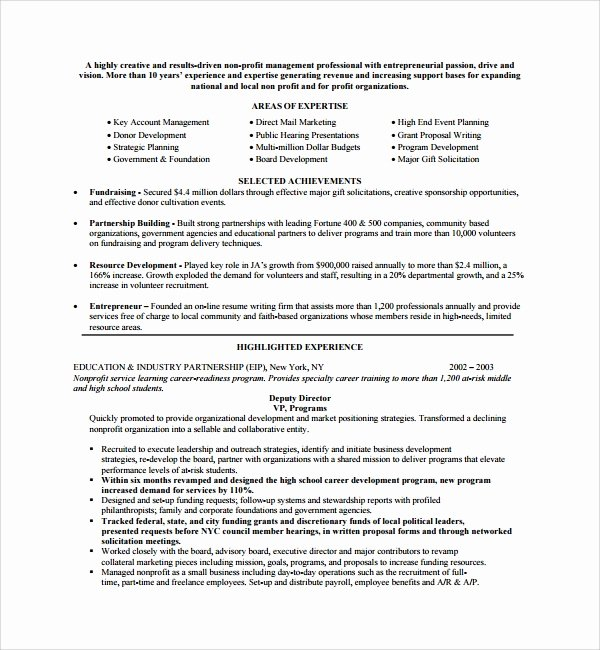 Non Profit Proposal Template Lovely Sample Non Profit Proposal Template 13 Free Documents