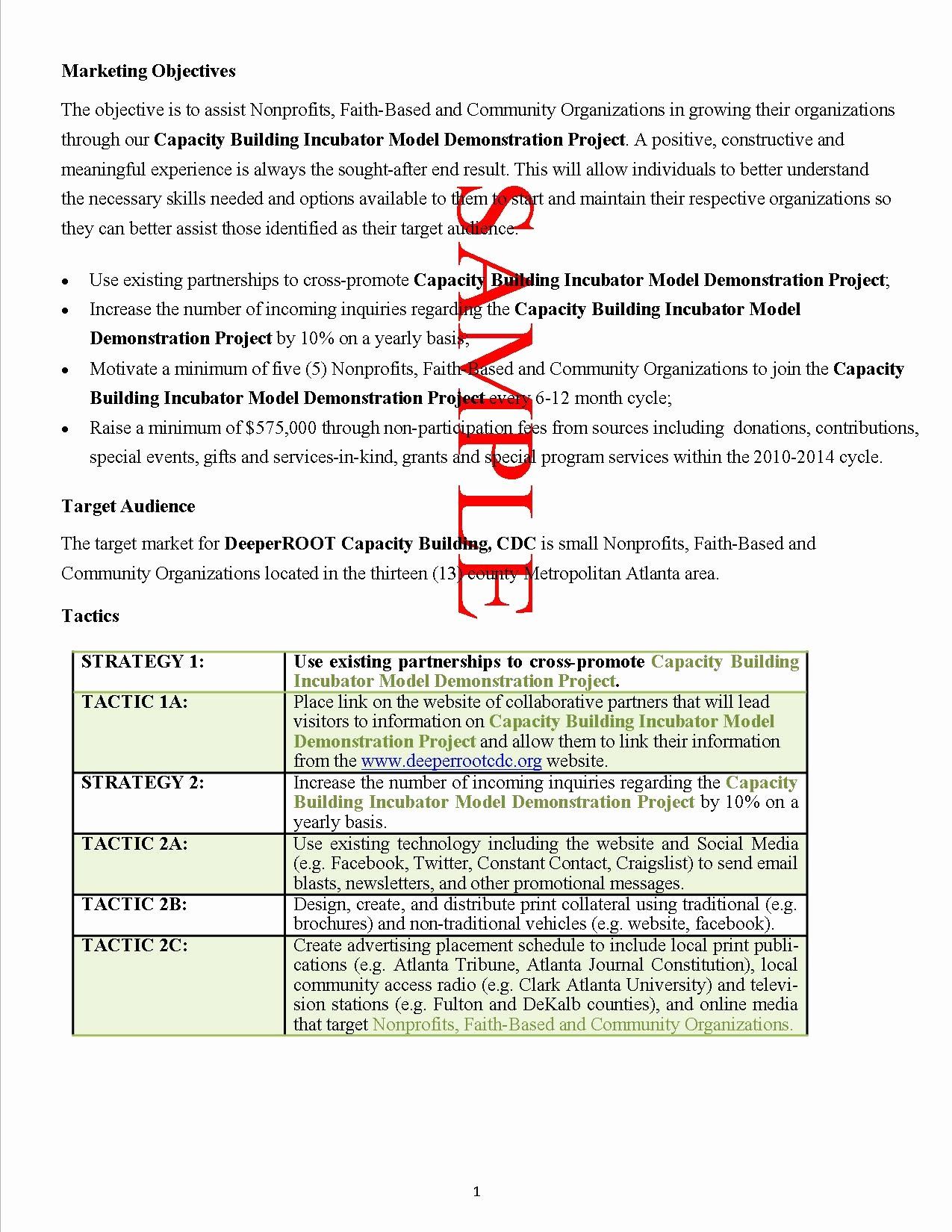 Non Profit Proposal Template Luxury 10 Example Of A Grant Proposal