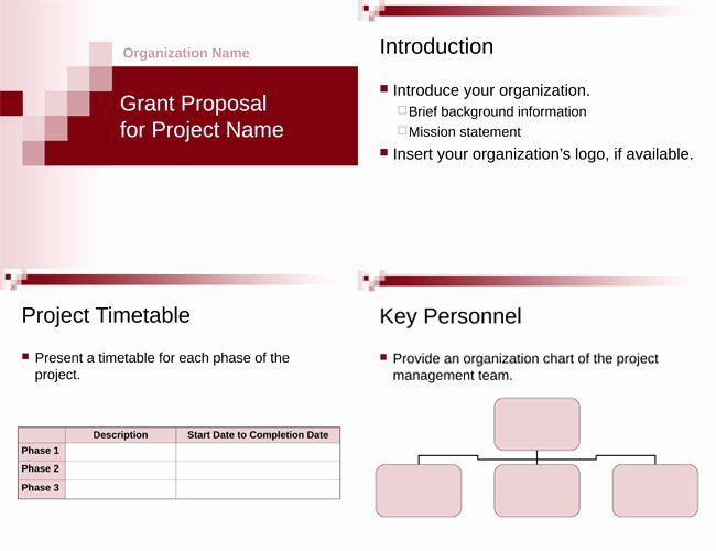 Non Profit Proposal Template Unique 6 Free Grant Proposal Templates for Word and Pdf