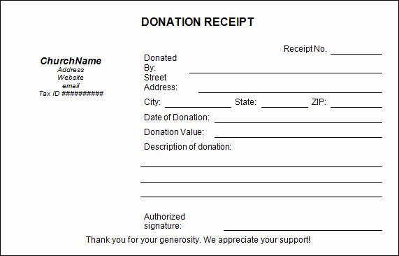 Non Profit Receipt Template Awesome 16 Donation Receipt Template Samples