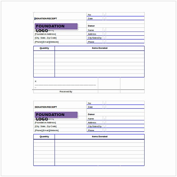 Non Profit Receipt Template Awesome Non Profit Donation Receipt Template