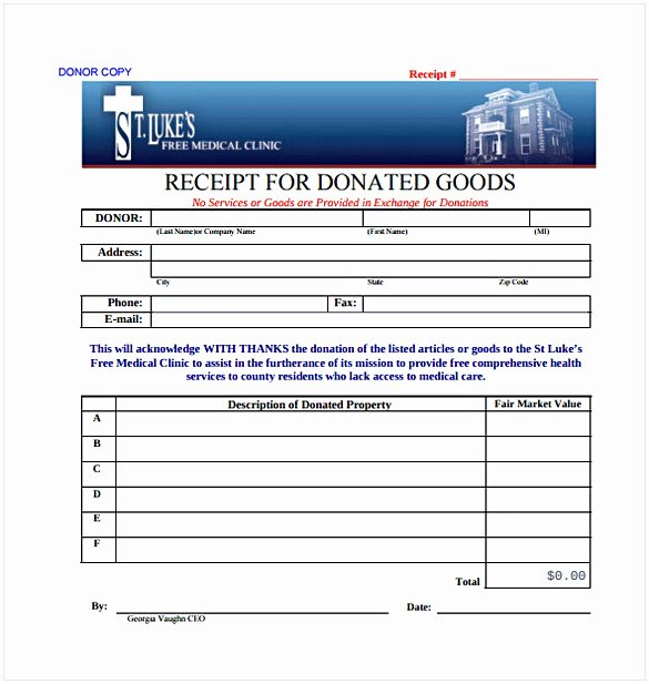 Non Profit Receipt Template Best Of Non Profit Donation Receipt Template