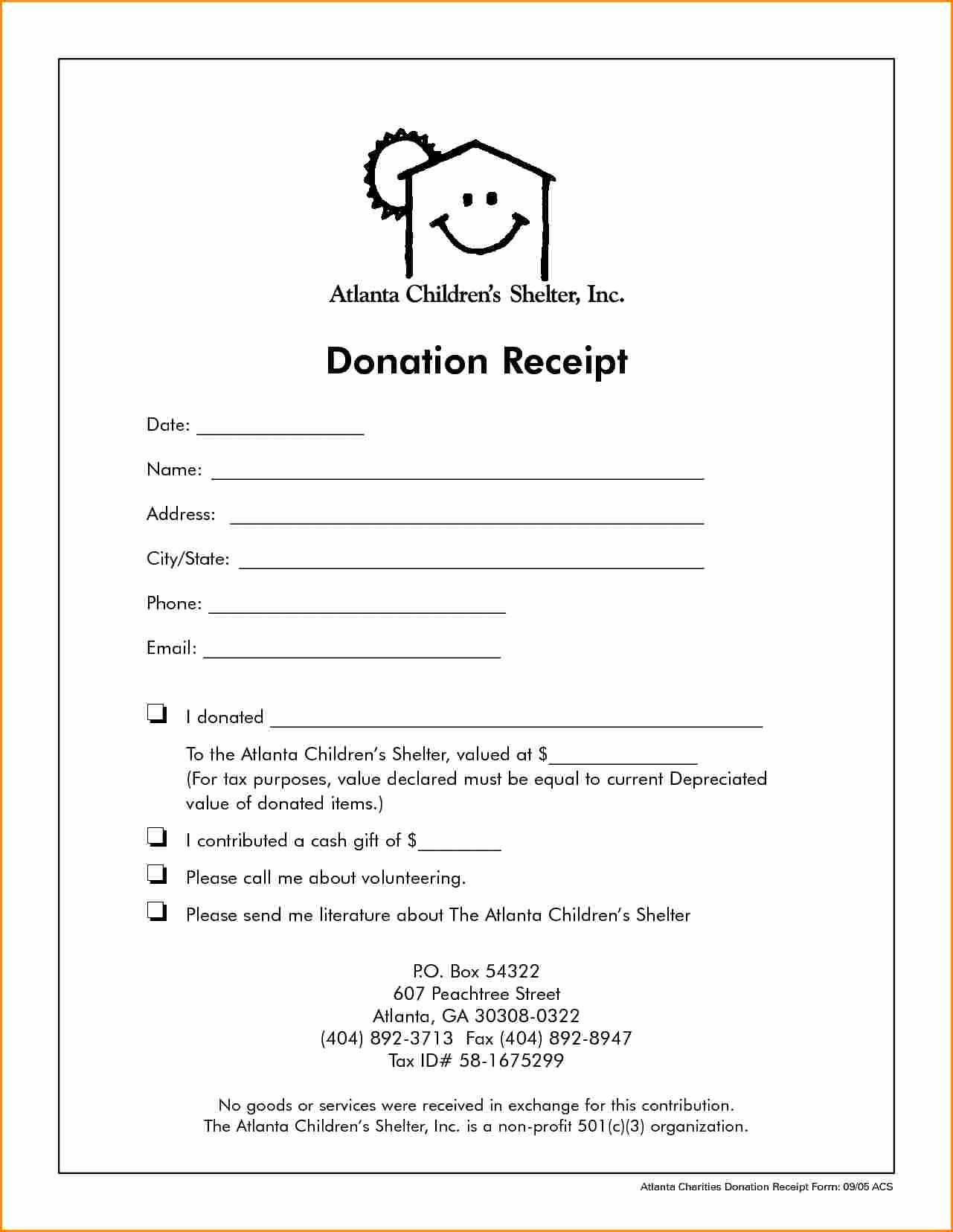 Non Profit Receipt Template Fresh 5 Receipt for Non Profit Donation