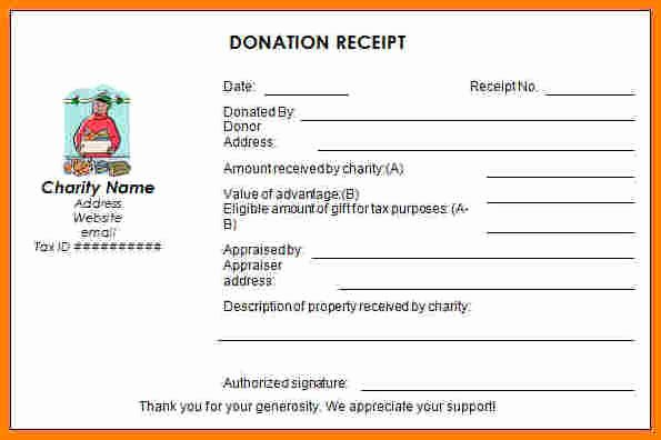 Non Profit Receipt Template Fresh 9 Non Profit Donation Receipt Template
