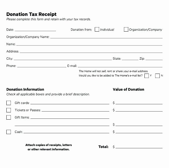 Non Profit Receipt Template Fresh Printable Goodwill Donation Receipt