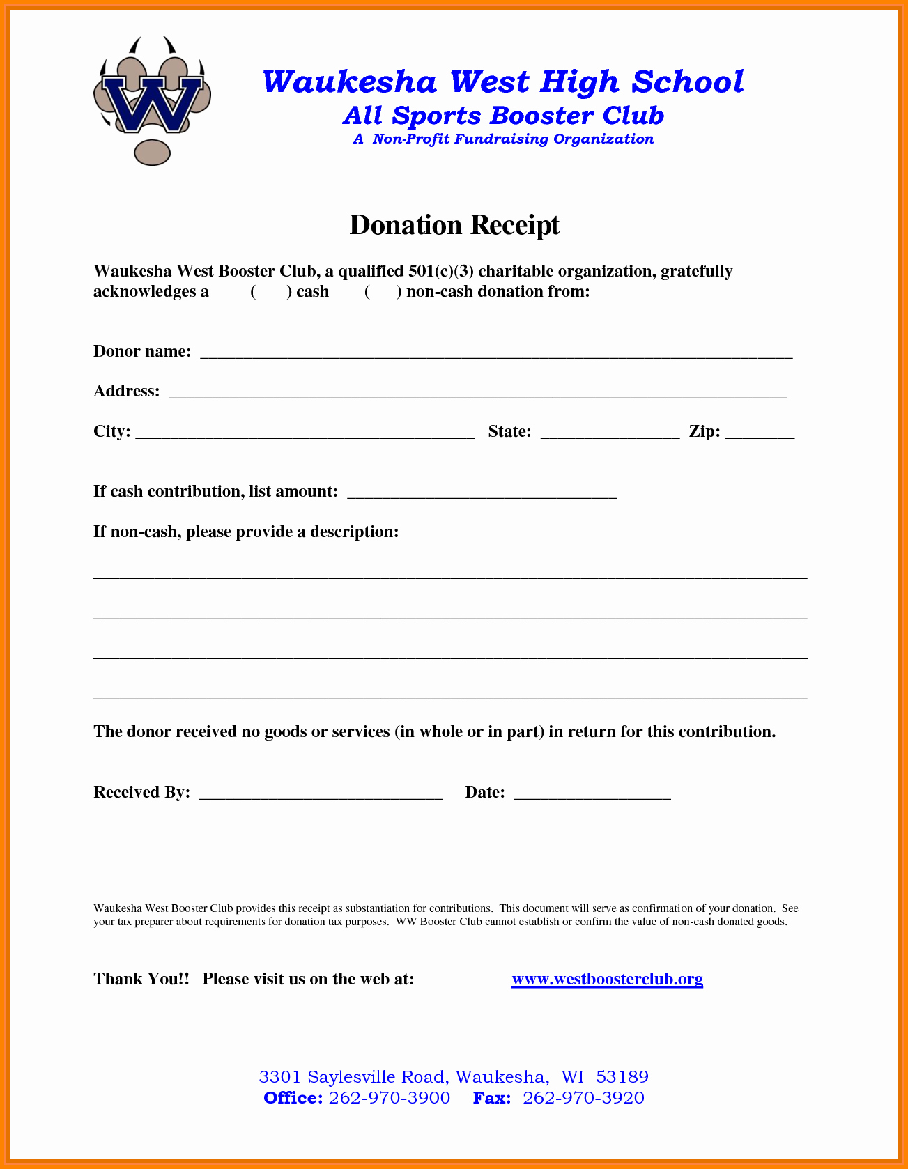 Non Profit Receipt Template Inspirational 9 Non Profit Donation Receipt Template