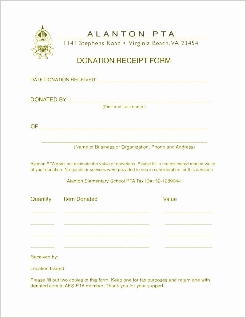 Non Profit Receipt Template Lovely 9 Sample Non Profit Donation Receipt Sampletemplatez