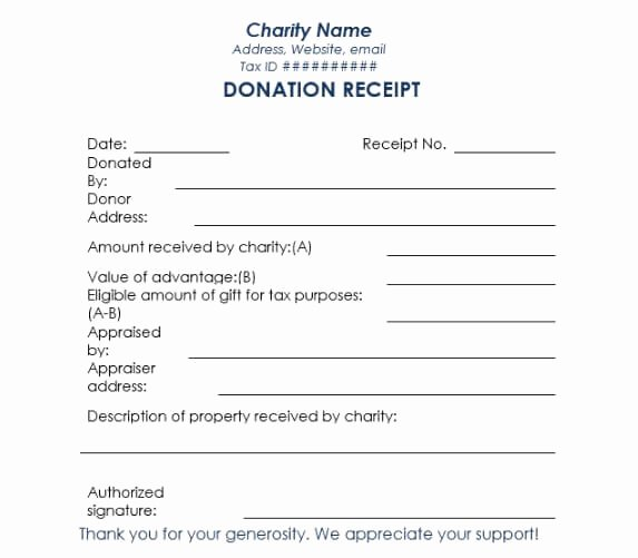 Non Profit Receipt Template Luxury Non Profit Donation Receipt Template
